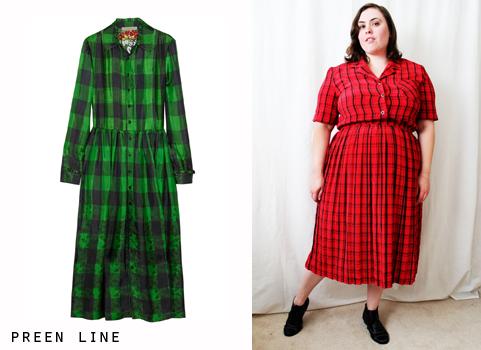 preen_line_plaid_dress